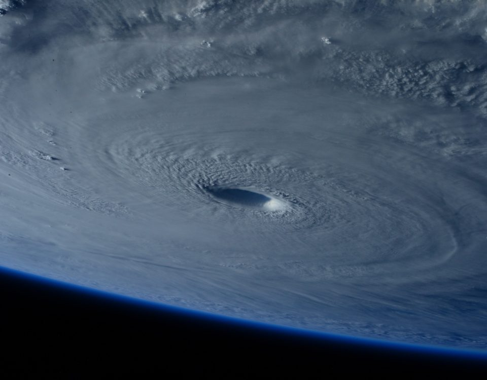 View of a hurricane from space